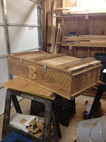 ammo box made out of barn wood