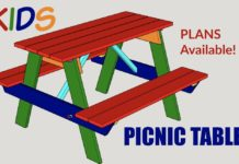 Kids Picnic Table Plan