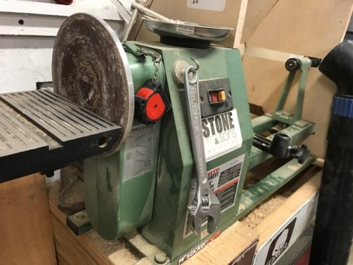 Harbor Freight lathe with sander