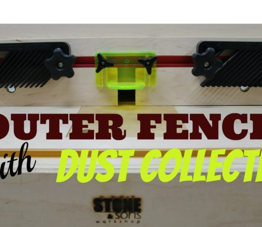 Router Fence with Dust Collection