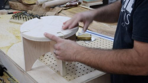 Knock Down Stool - assembly 2