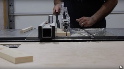 table saw action