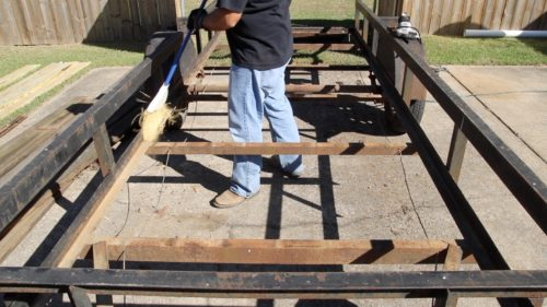 Utility trailer floor replacement wood floor bed for 6x12 wood floor trailer